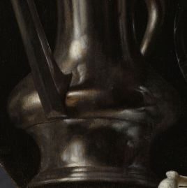 "Flagon, detail from ""Emblematic Still Life"""