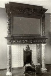 The hearth from the back room at Nieuwegracht 6 before it was demolished. Photo municipal archives, Utrecht