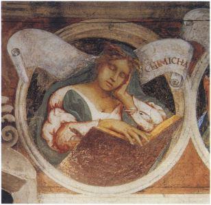15. Lorenzo Lotto, Cimmerian Sibyl, 1523-24, fresco, Oratorio Suardi, Trescore