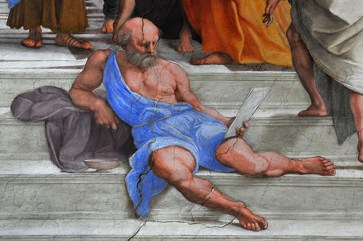 20. Raphael Santi, Diogenes, detail from the School of Athens, Stanza della Segnatura