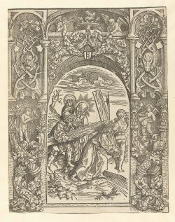 12. Christ Carries the Cross from Life of the Virgin, 1507, 30.5x23.5 cm, Rijksmuseum (with ornamental borders)