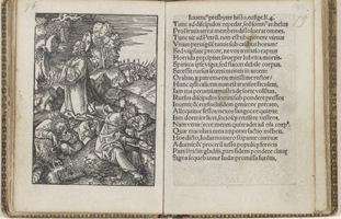 """11. Page from """"Passio Domini Nostri Jesu Christi"""", 1523, 11x8 cm, Rijksmuseum Library"""