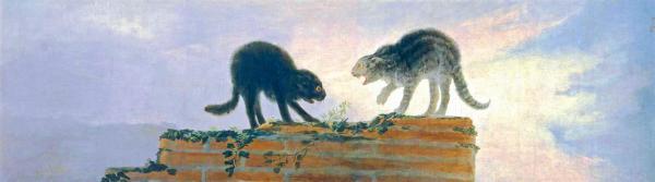 Fighting Cats Francisco De Goya Lucientes