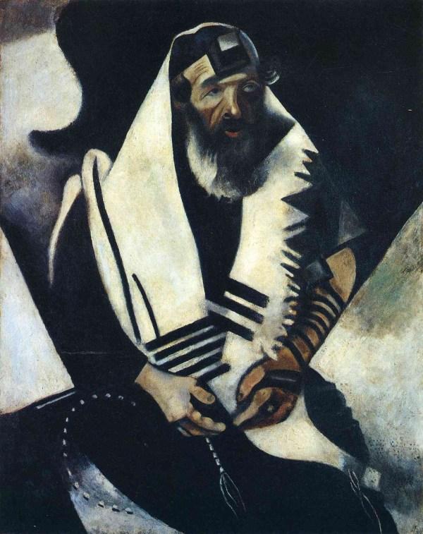 Praying Jew Rabbi Of Vitebsk Marc Chagall