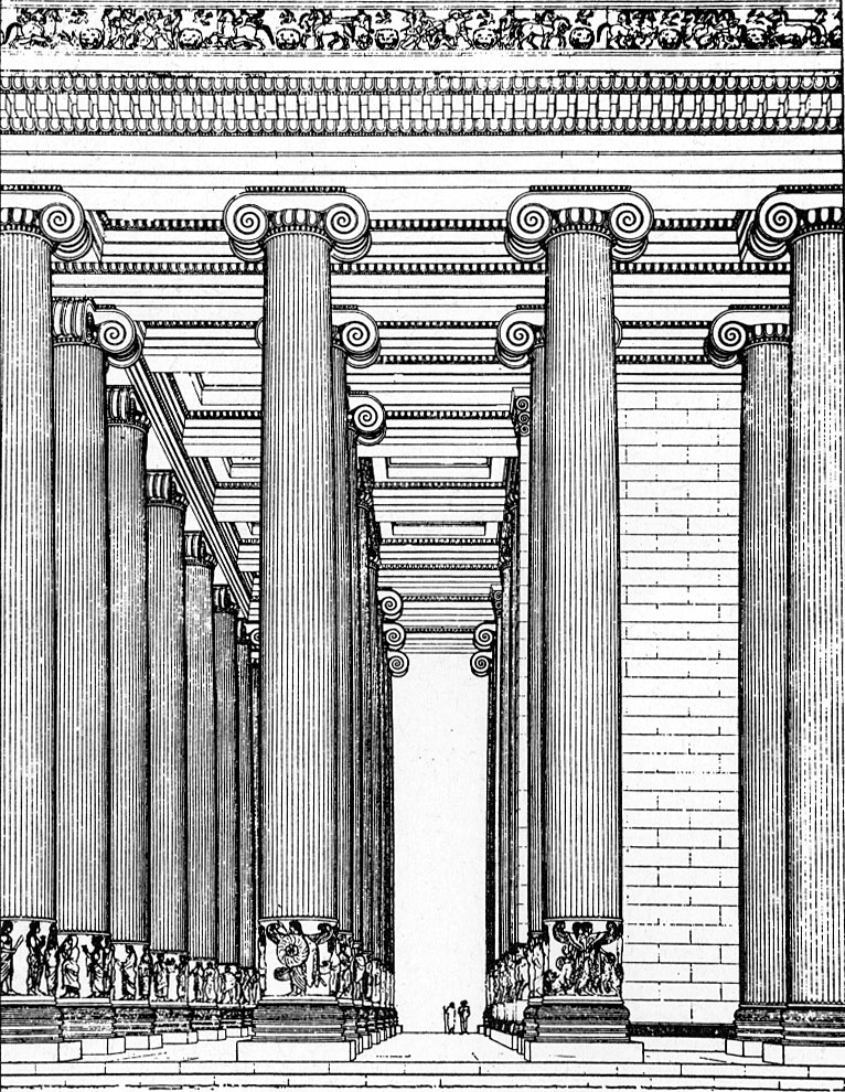 Le Temple D'artémis à éphèse : temple, d'artémis, éphèse, Greek, Architecture:, Temple, Artemis,, Ephesus