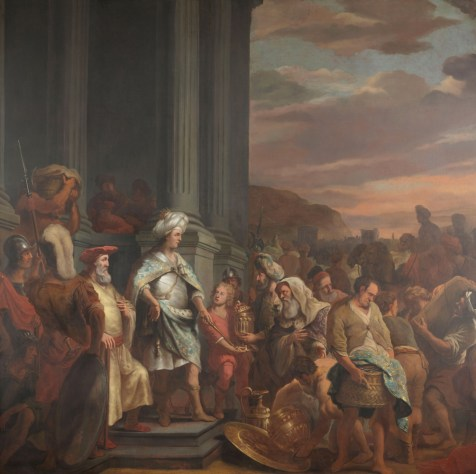 Ferdinand Baltasars Pain. King Cyrus gives the stolen treasures of the temple of Jerusalem