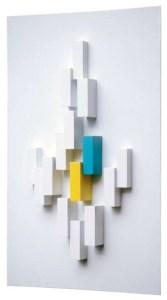 Рон Костинюк. З циклу Кубики. 1967.Структура-рельєф