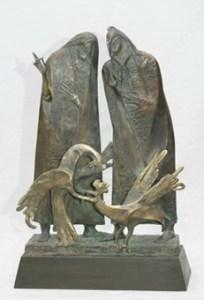 Суперечка, 2005, бронза, h 56 см, Краматорськ 5000 евро.jpg (1)