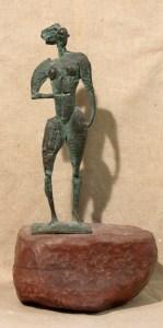 Жанна д'Aрк, 2000р, бронза, 24х8х6см, 1000$ (1)