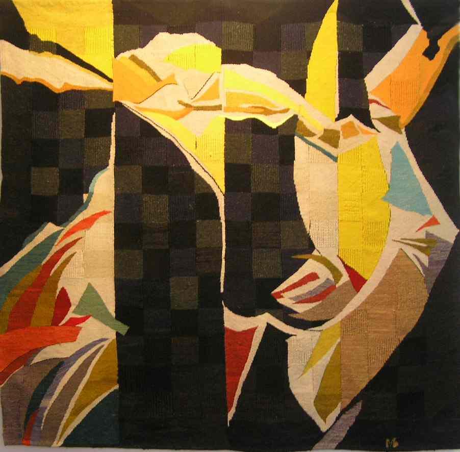 "Марта Базак. 1997. Гобелен ""Чорний квадрат"". 156х159 см"