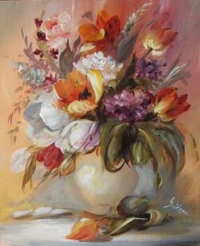 Szidónia: Tulipános csendélet 20x25