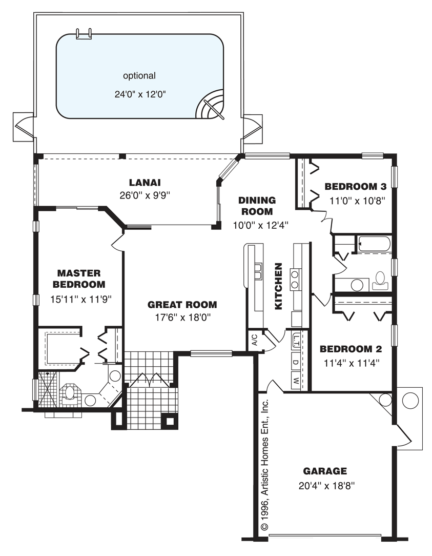 hight resolution of the key west home layout