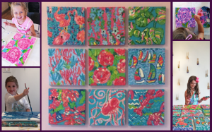 Artist Lilly Pulitzer Inspired