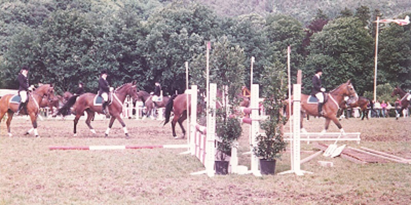 Equestrian riding contest in Southern Germany Judith Safford