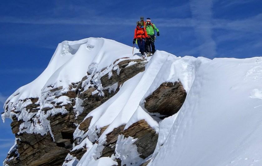 Steep ridge in the Swiss Alps