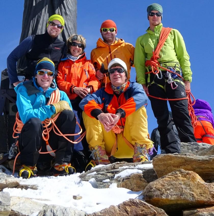 Mountain climbing team Monte Rosa tour