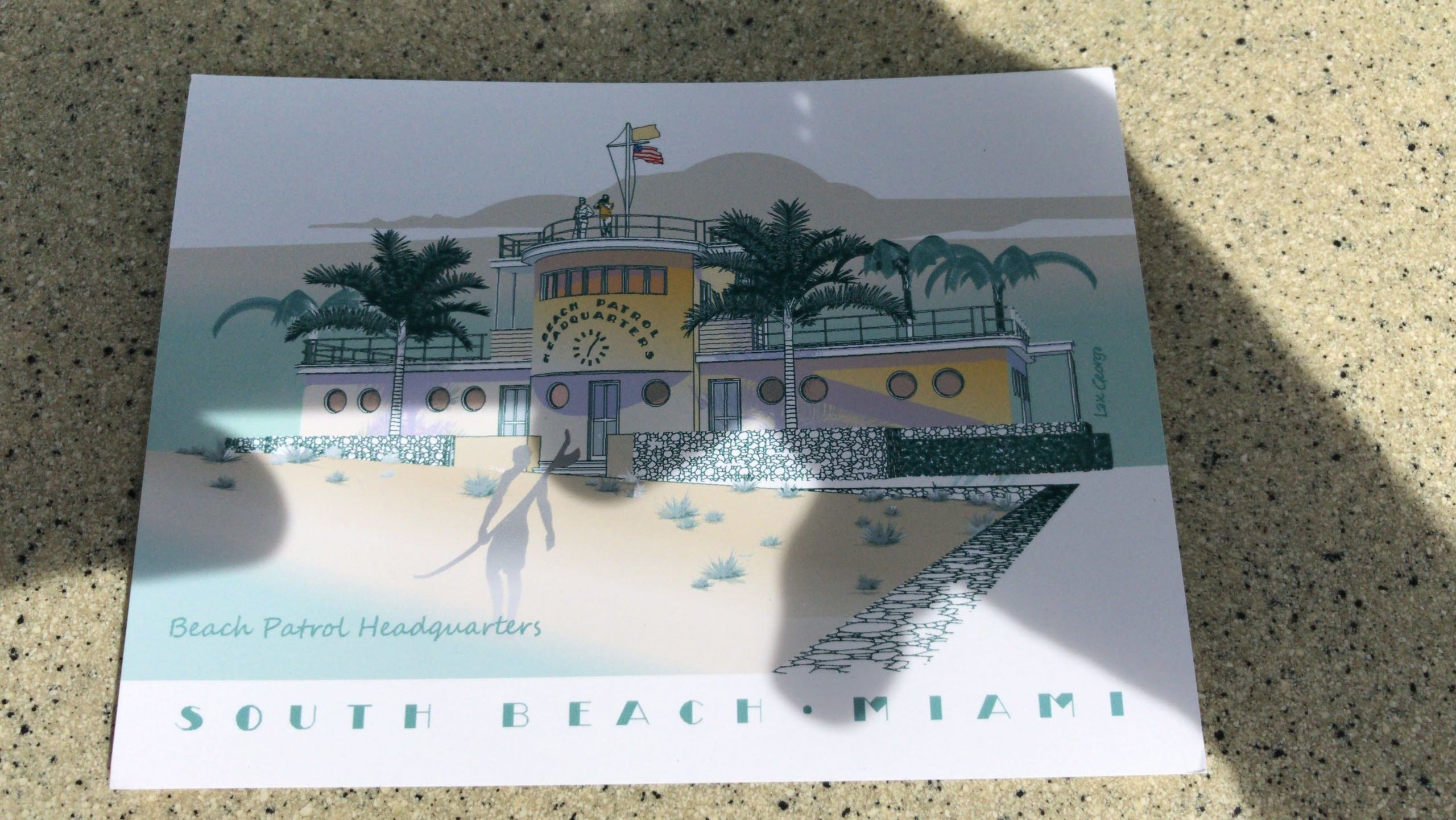 Ocean Drive carte postale