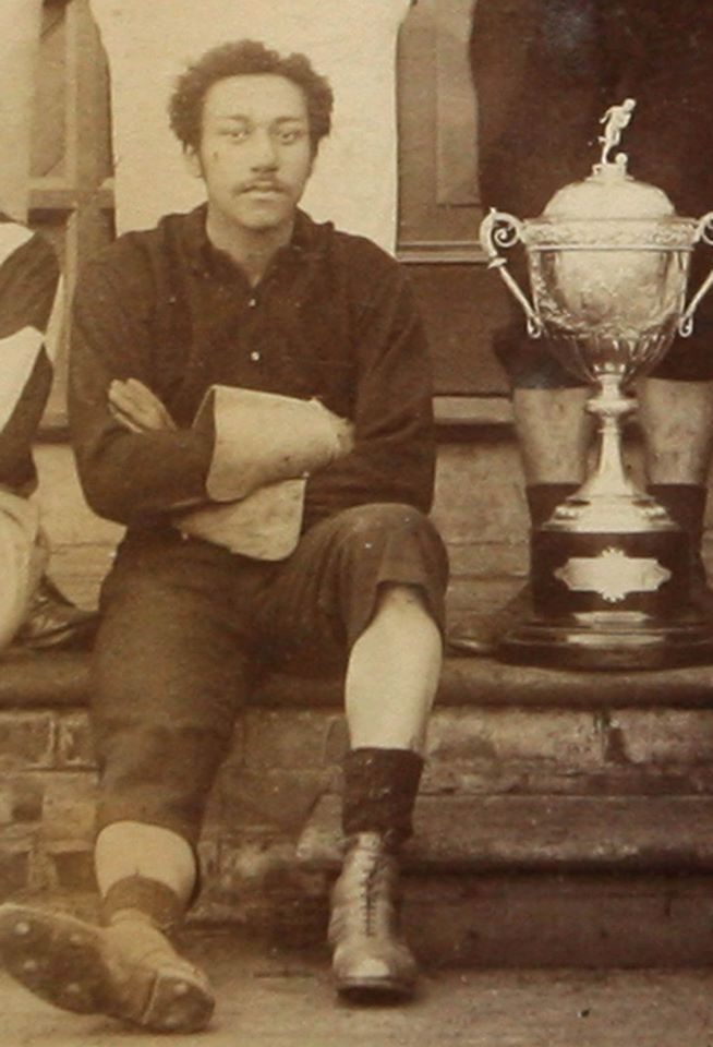 Arthur Wharton with cup