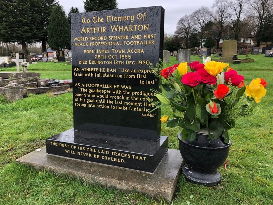 Arthur Wharton's gravestone