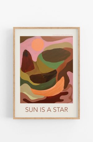 sun is a star kunstplakat