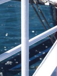 Bright white on sea
