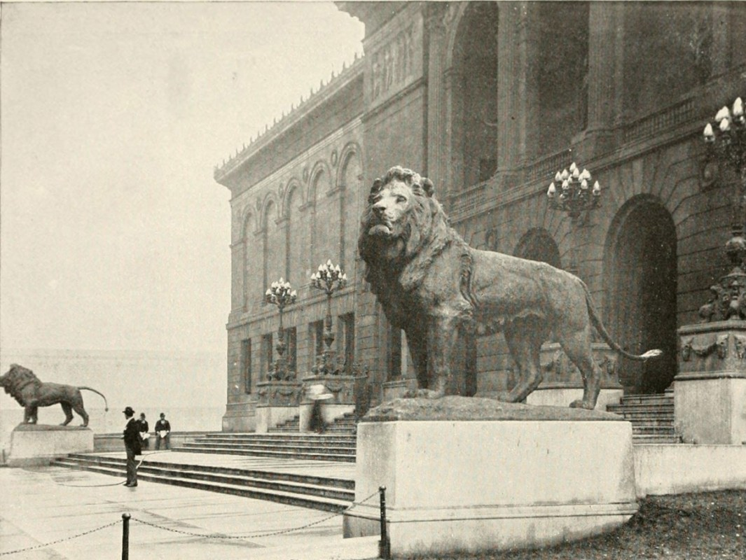 Lions Of Michigan Avenue Art Institute Chicago