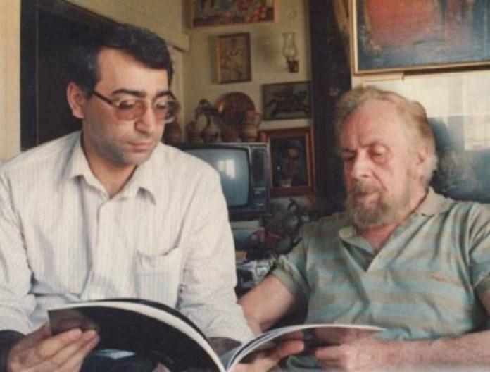 Ο Φερεϊντούν Φαριάντ με τον Γιάννη Ρίτσο