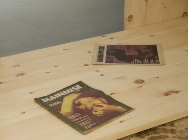 Détail de l'exposition Un futur incertain de Guillaume Adjutor Provost à la Galerie Les Territoires, 2014. Crédits photographiques: Vincent Lafrance