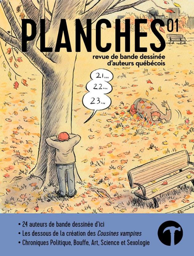 Couverture du numéro 01 de PLANCHES,  illustrée par Sylvain Cabot. Crédit photographique: Page Facebook Revue Planches