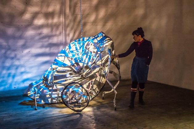 Humo, Leche y Miel Beatriz Herrera. Vue d'installation. Robotis Personae à Eastern Bloc, 2015. Crédits photographiques: Alexis Boulianne.