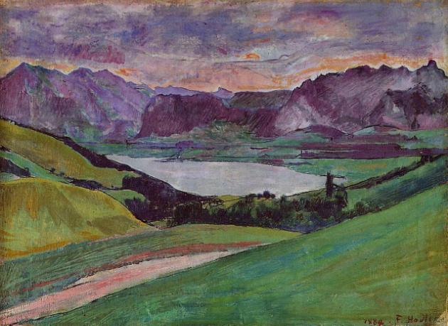 Ferdinand Hodler. Lake Thun, 1884