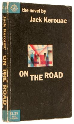 Première de couverture de la première édition de l'oeuvre On the Road de Jack Kerouac Source: abebooks