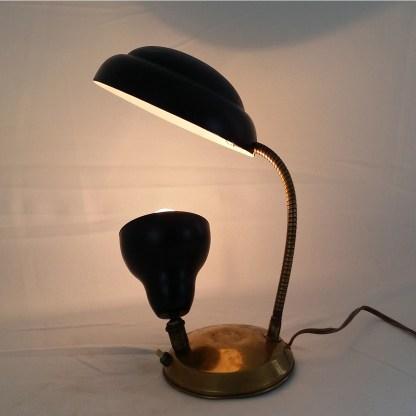 desk lamp-reflector-articulated-vintage