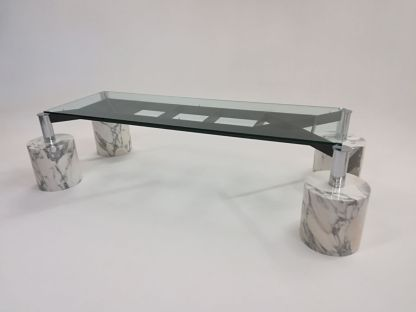 marble glass design vintage table