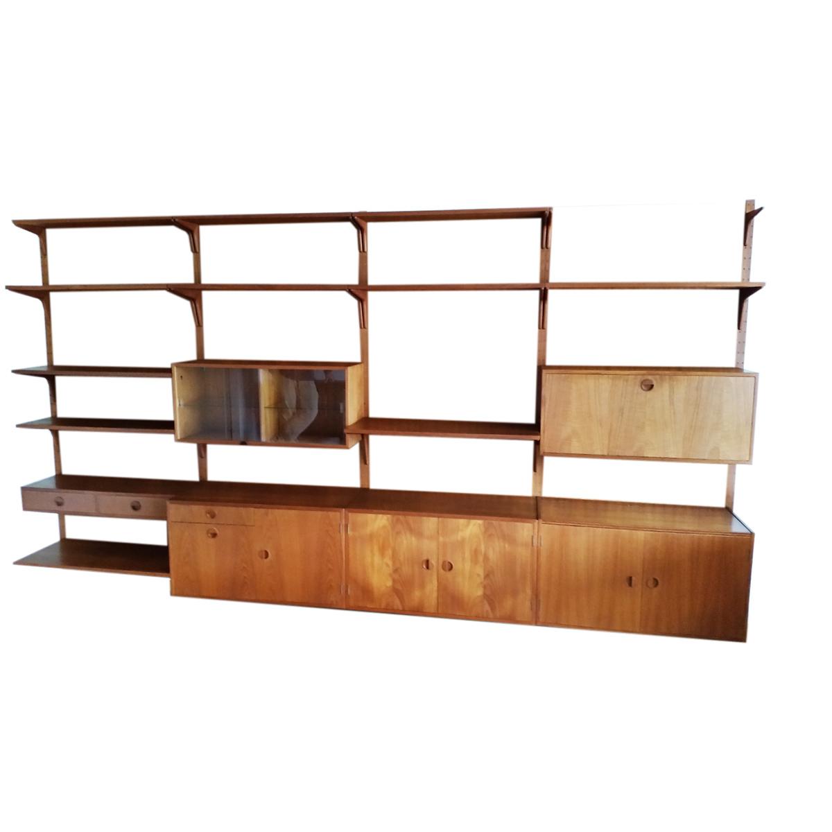 vintage teak modular wall system 1960