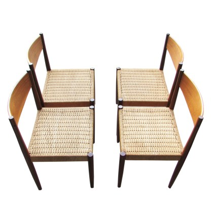 teak dining chairs set of for