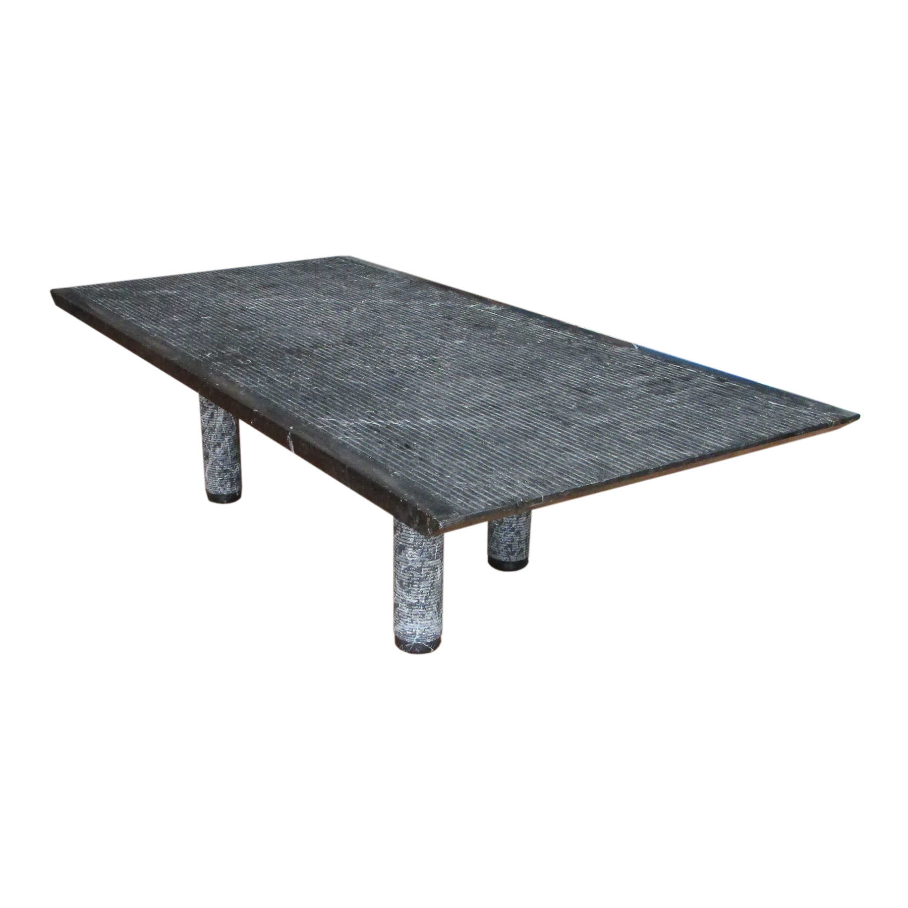 marble brutalist design coffee table