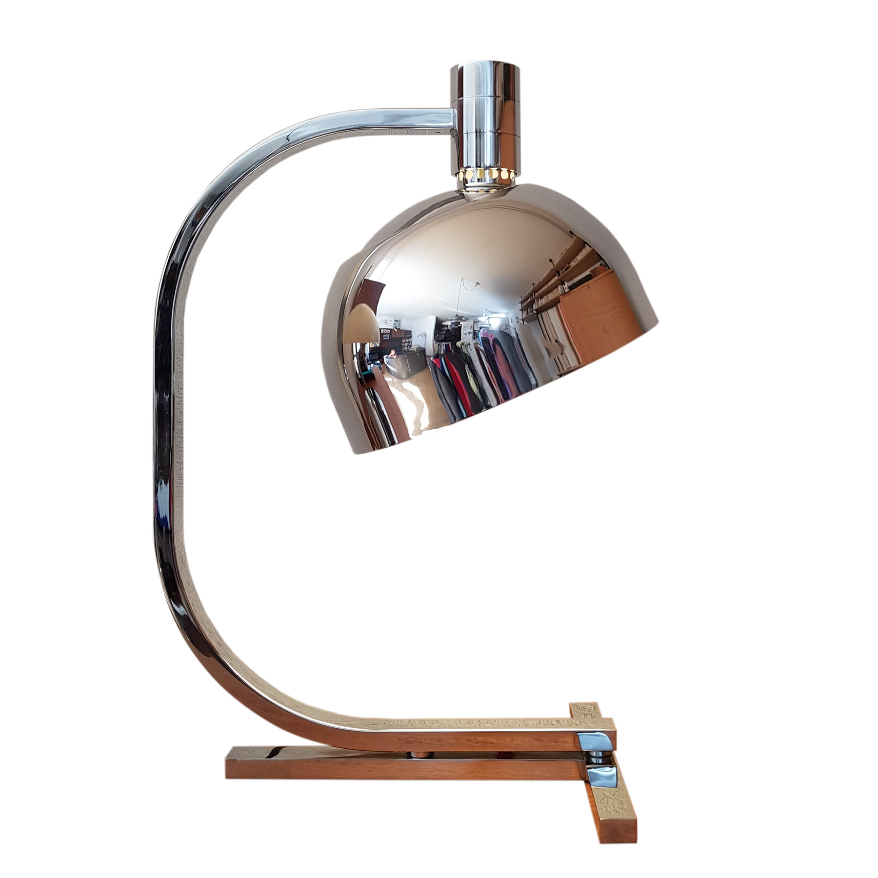 fanco albini franca helg paolo piva chrome desk lamp am/as