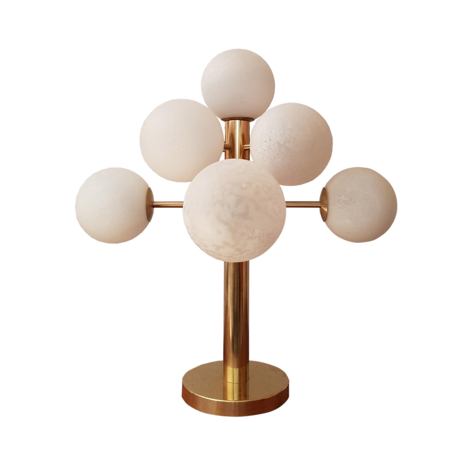Vintage sputnik desk lamp by bietenholz