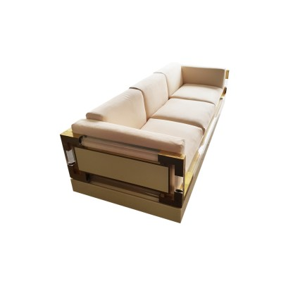 sofa 1960 lucite brass hollis jones