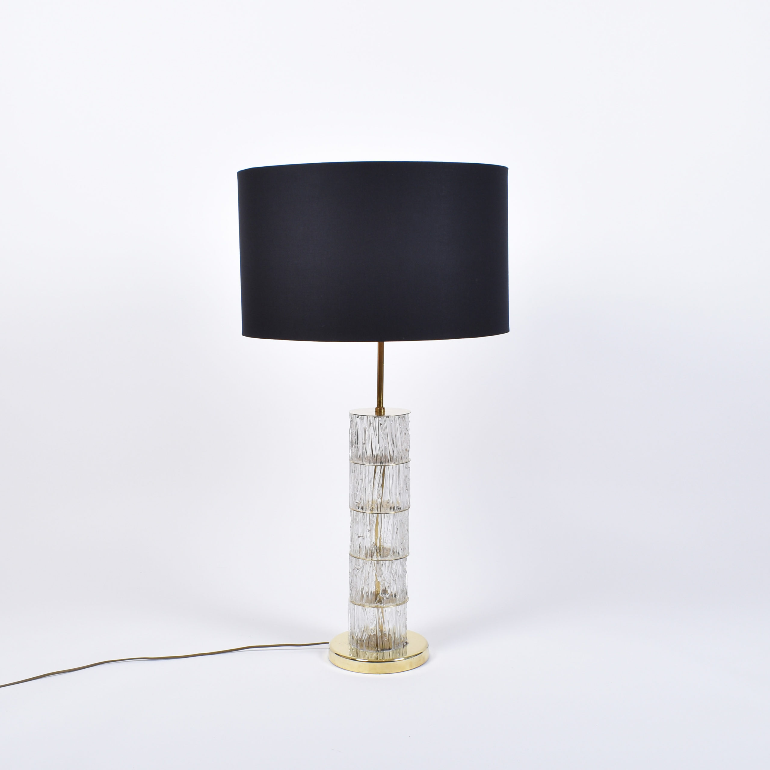big italian pressed glas lamp