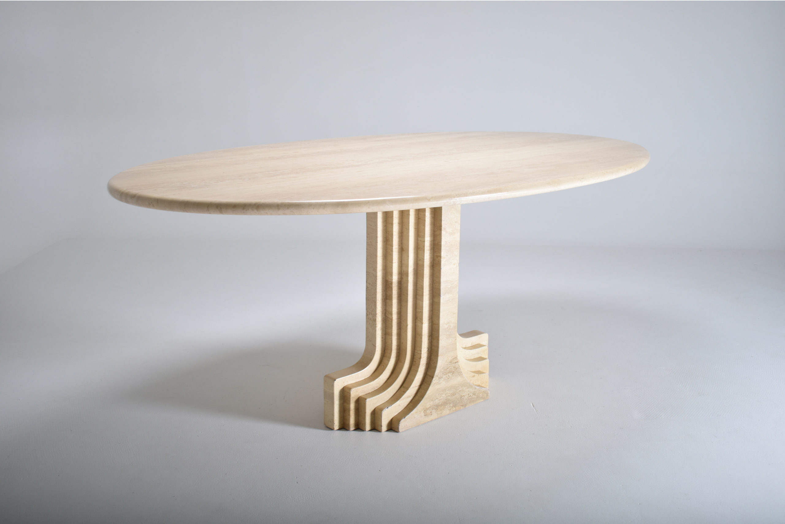 for sale scarpa samo travertine dining table