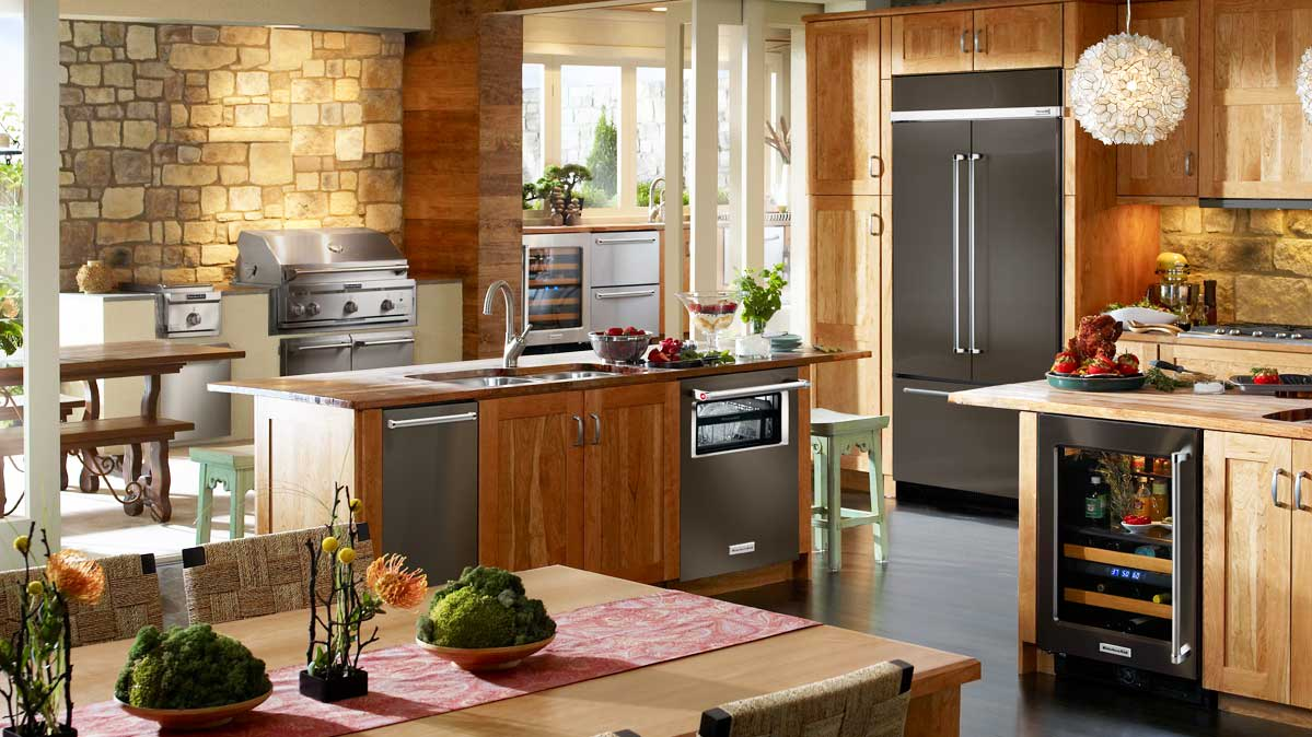 kitchen appliance packages stainless steel aid artisan best black refrigerators consumer reports a kitchenaid refrigerator in modern