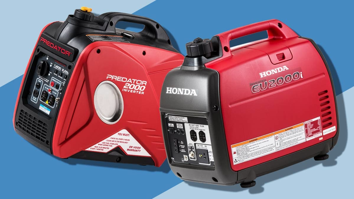 hight resolution of a harbor freight generator left and a honda generator