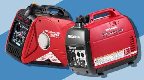 small resolution of a harbor freight generator left and a honda generator