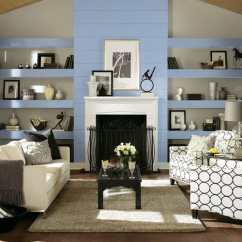 Wall Painting Colors For Living Room Decor Cheap Hottest Interior Paint Of 2019 Consumer Reports The Behind Fireplace And Bookcases Are Painted In Clark Kensington Stainless Steel