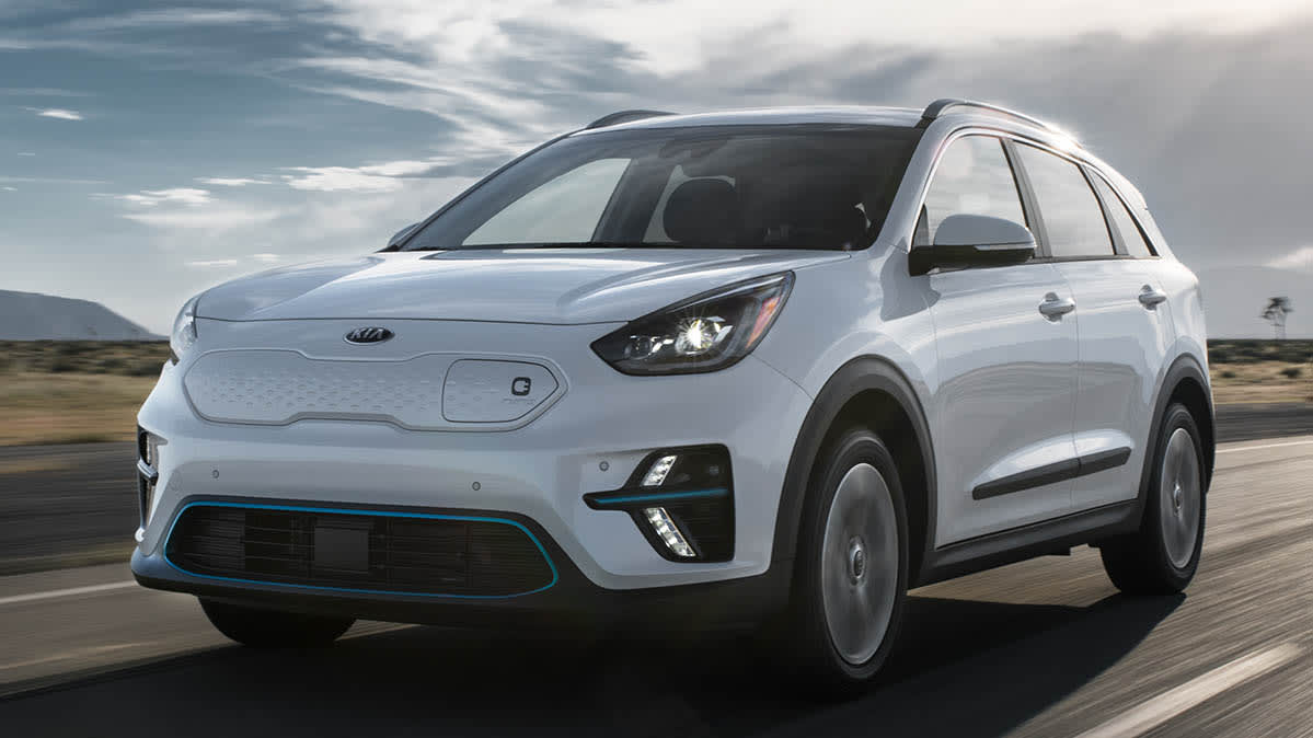 hight resolution of 2019 niro ev electric car driving