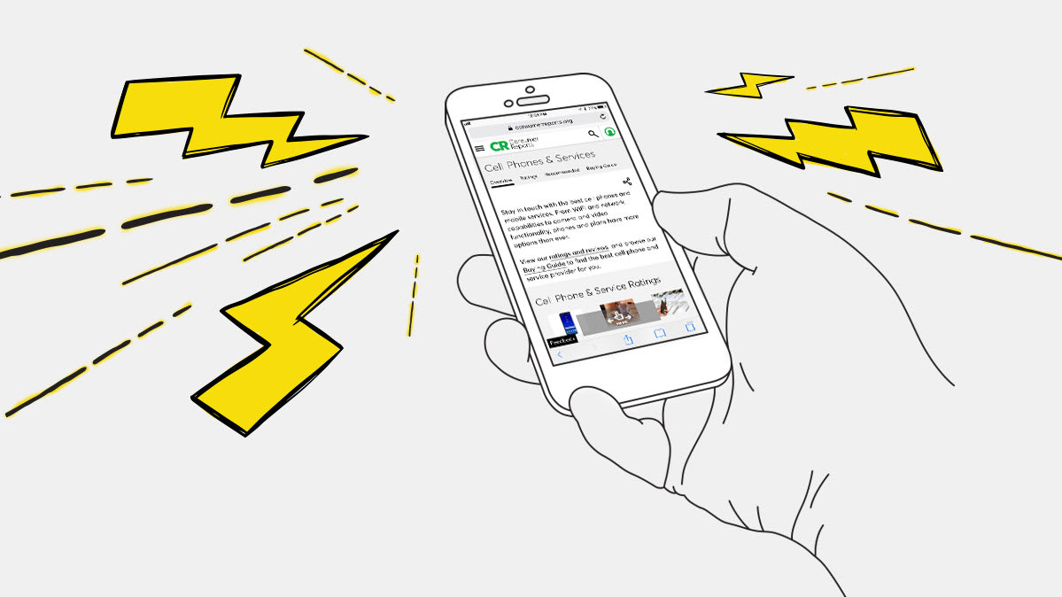 hight resolution of an illustration of a hand holding a smartphone