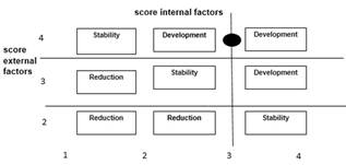 The application of SWOT model to compile appropriate