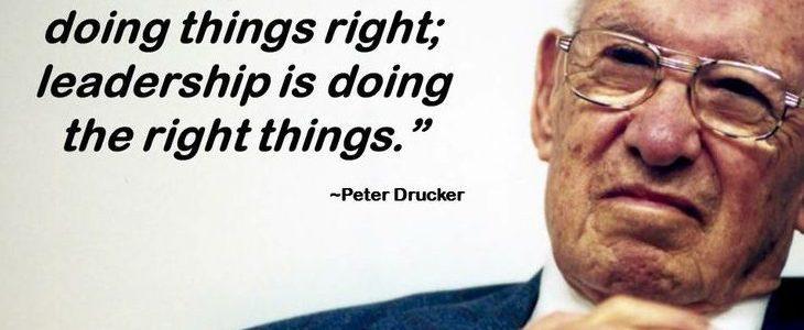 Contribution of Peter f. Drucker